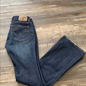 😊2/25 Roots skinny flare jeans